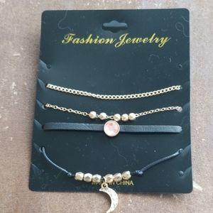 Set of 4 Fashion Bracelets or Anklets